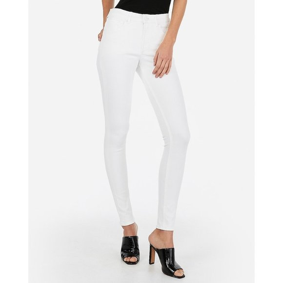 Express Denim - Express High Waisted Denim Perfect Skinny Jeans 6R